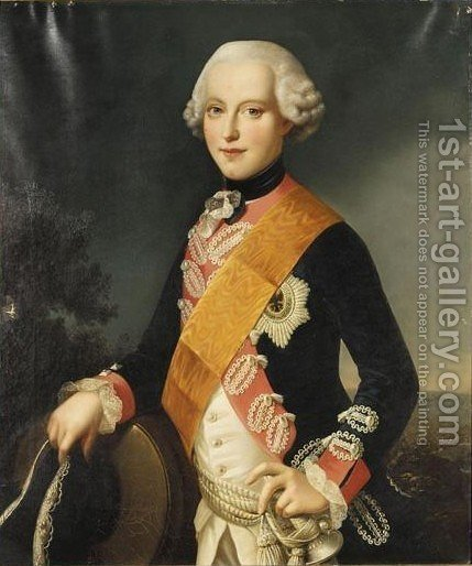 Portrait Eines Jungen Mannes, Ungefahr 15 Jahre Alt, Moglicherweise Ferdinand Herzog Von Braunschweig Und Luneburg] by (after) Johann Georg Ziesenis - Reproduction Oil Painting