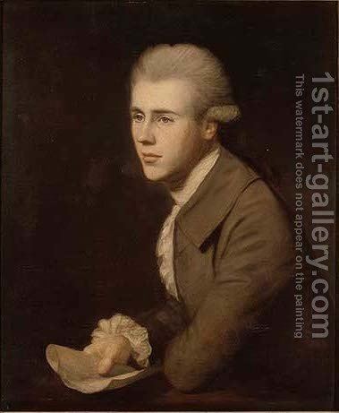 Portrait of a young man by (after) Josepf Wright Of Derby - Reproduction Oil Painting