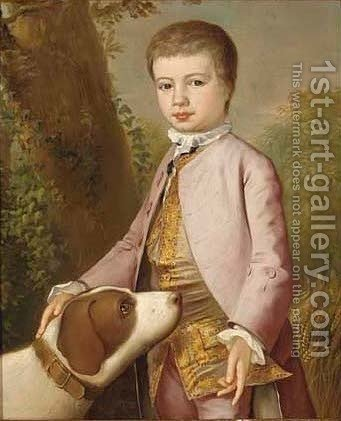 Portrait of a boy by (after) Josepf Wright Of Derby - Reproduction Oil Painting