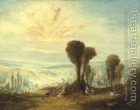 Italian Landscape by (after) Joseph Mallord William Turner - Reproduction Oil Painting