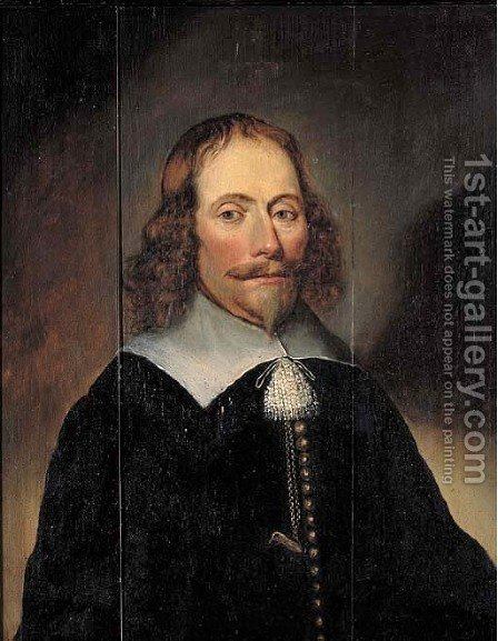Portrait of Hendrick van Soeteren Burgomaster of Calcar by (after) Lambert Doomer - Reproduction Oil Painting