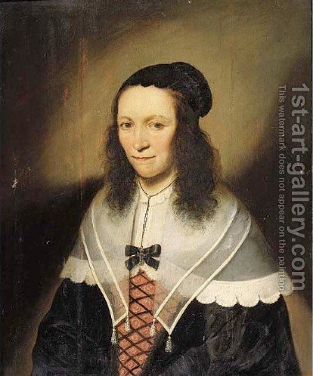 Portrait of Catharina van Soeteren by (after) Lambert Doomer - Reproduction Oil Painting