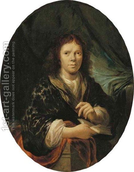 Portrait of a young man by (after) Nicolaes Maes - Reproduction Oil Painting