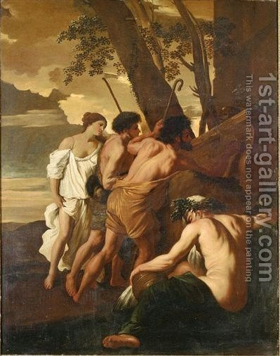 Et In Arcadia Ego by (after) Nicolas Poussin - Reproduction Oil Painting