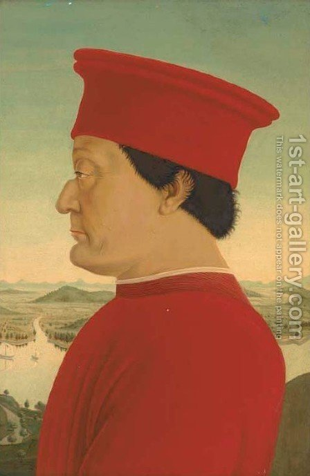 The Duke of Urbino by (after) Piero Della Francesca - Reproduction Oil Painting
