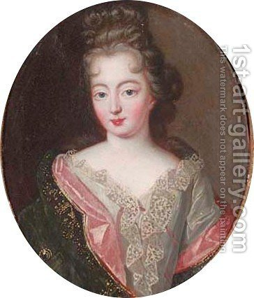 Portrait of a young lady by (after) Pierre Gobert - Reproduction Oil Painting