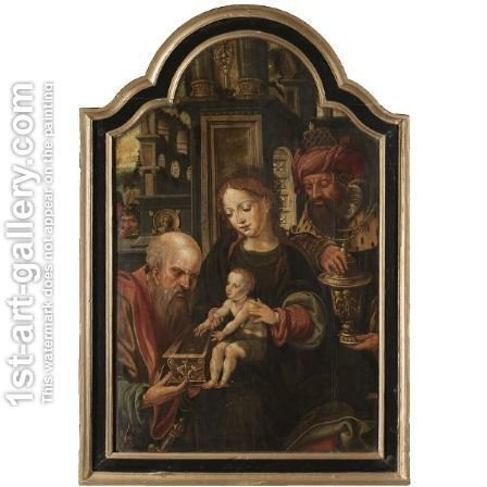 The Adoration Of The Magi 3 by (after) Pieter Coecke Van Aelst - Reproduction Oil Painting
