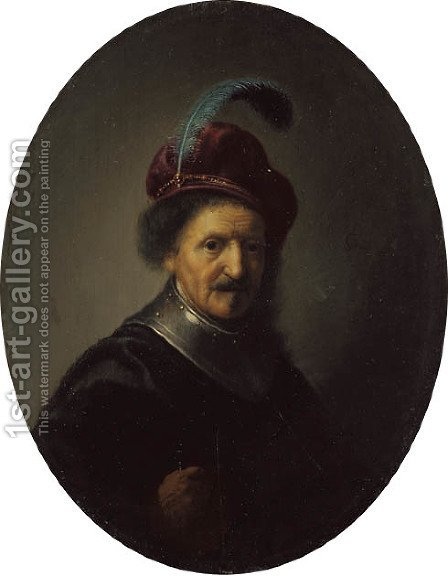 Portrait of a man, called Rembrandt's father, Harmun Gerritsz. van Rijn (c. 1568-1630) by (after) Rembrandt Van Rijn - Reproduction Oil Painting