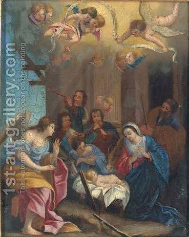 The Nativity by (after) Simon Vouet - Reproduction Oil Painting