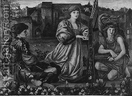 Vespertina quies 2 by (after) Sir Edward Coley Burne-Jones - Reproduction Oil Painting