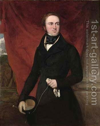 Portrait of Sir Creswell Creswell (1794-1863) by (after) Sir Francis Grant - Reproduction Oil Painting