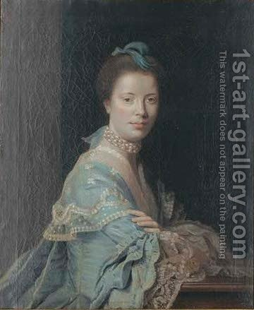 Portrait of a lady 3 by (after) Sir Joshua Reynolds - Reproduction Oil Painting