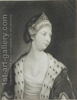 Augusta, Princess Of Brunswick And Luneburg by (after) Sir Joshua Reynolds - Reproduction Oil Painting