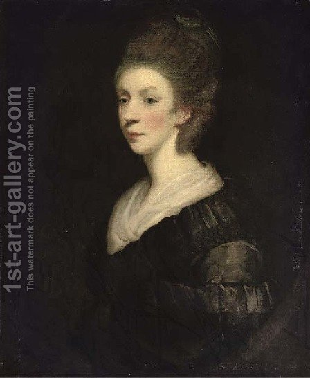 Portrait of a lady, traditionally identified as Mary Palmer, Marchioness of Thomond by (after) Sir Joshua Reynolds - Reproduction Oil Painting