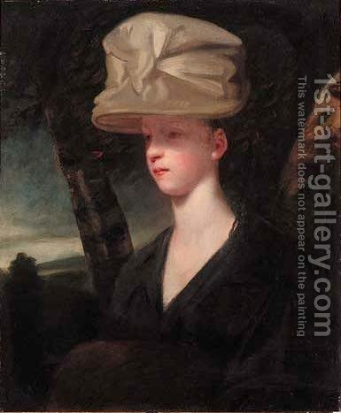 Portrait of a young lady by (after) Sir Joshua Reynolds - Reproduction Oil Painting