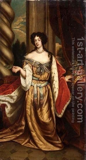 Portrait Of Mary Of Modena by (after) Sir Peter Lely - Reproduction Oil Painting