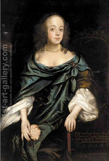 Portrait of Lady Arrabella Howe by (after) Sir Peter Lely - Reproduction Oil Painting