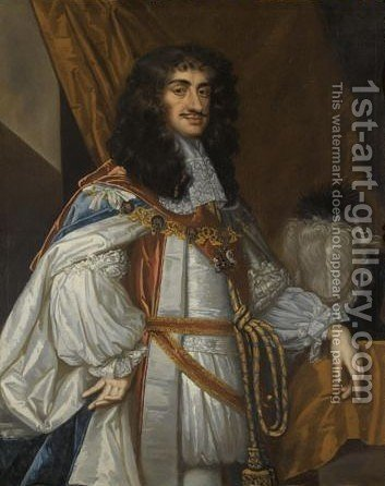 Portrait Of Charles II by (after) Sir Peter Lely - Reproduction Oil Painting