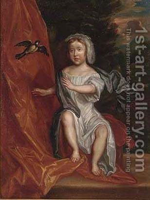 Portrait of young boy by (after) Sir Peter Lely - Reproduction Oil Painting