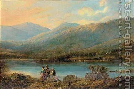 Waiting for the ferry by (after) Thomas Creswick - Reproduction Oil Painting