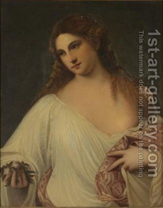 Flora 2 by (after) Tiziano Vecellio (Titian) - Reproduction Oil Painting