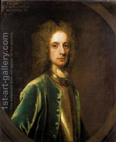 Portrait Of Charles, 9th Lord Elphinstone (1676-1738) 4 by (after) William Aikman - Reproduction Oil Painting