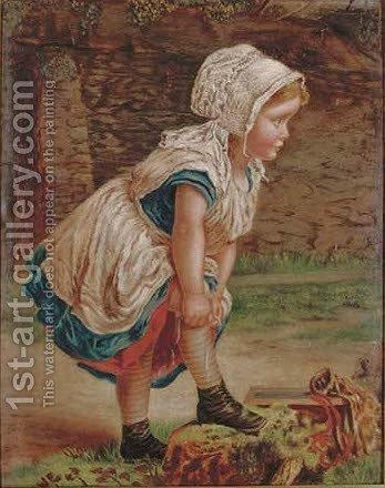 The loose stocking by (after) William Hemsley - Reproduction Oil Painting