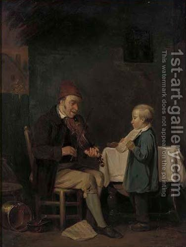 A disenchanted pupil by (after) William Mulready - Reproduction Oil Painting