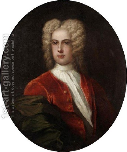 Portrait Of A Young Gentleman by (after) William Wissing Or Wissmig - Reproduction Oil Painting