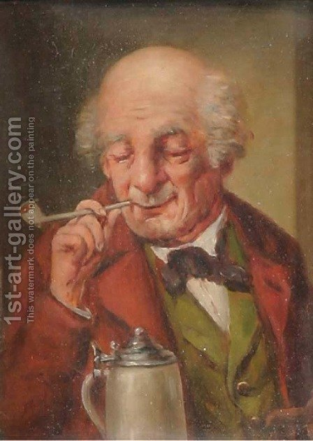 Schnutpfer by A. Mikota - Reproduction Oil Painting