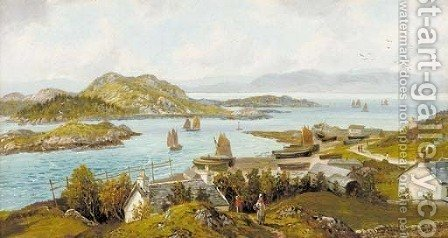 East Loch Tarbert - Loch Fyne, Rothesay by Albert Dunnington - Reproduction Oil Painting