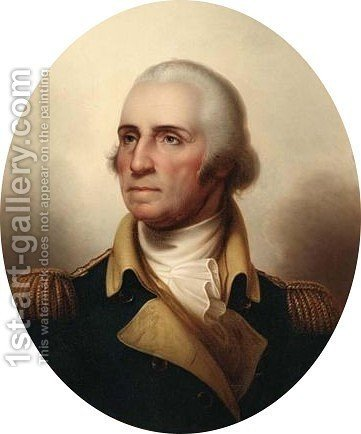 A Portrait Of George Washington The President Of The United States Of America by American School - Reproduction Oil Painting