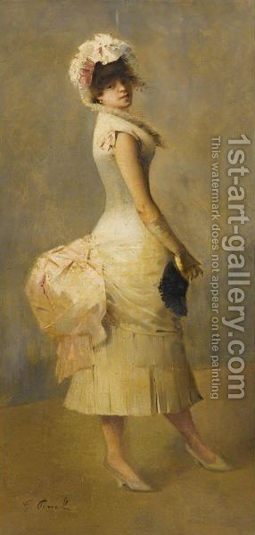 Elegant Lady by Gustave Nicolas Pinel - Reproduction Oil Painting