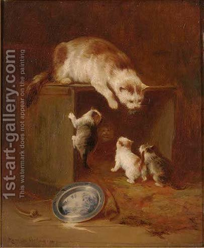 The first lesson by Hamilton Goodwin - Reproduction Oil Painting