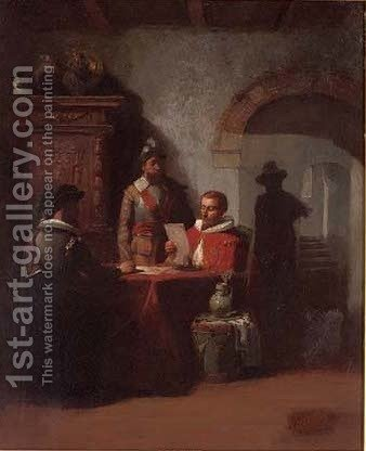 The important letter by Hendricus Johannes Scheeres - Reproduction Oil Painting
