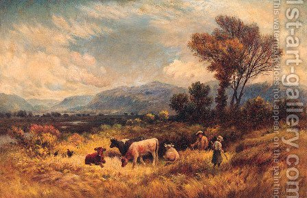 Out on the Marshes, Conway Valley by Henry Measham - Reproduction Oil Painting