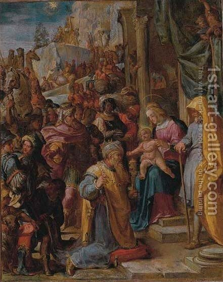 The Adoration of the Magi 3 by Italian School - Reproduction Oil Painting