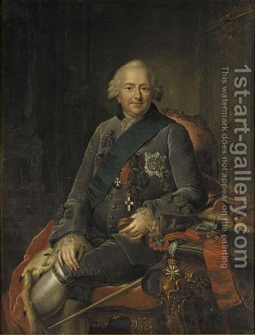 Portrait Of Ferdinand Of Brunswick-Wolfenbuttel (1713- 1780) by (after) Anna Rosina De Gasc - Reproduction Oil Painting