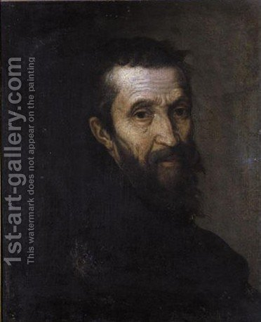 Portrait Of Michelangelo by (after) Bernardino De' Conti - Reproduction Oil Painting
