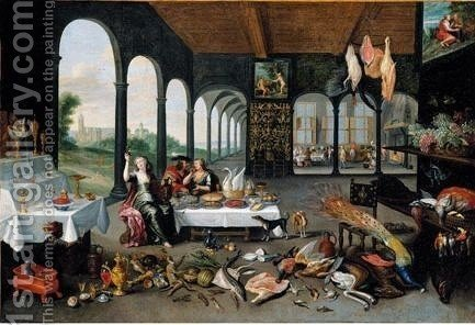 An Allegory Of Taste by (after) Jan Van Kessel - Reproduction Oil Painting