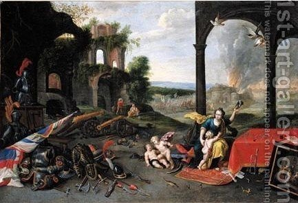 An Allegory Of War by (after) Jan Van Kessel - Reproduction Oil Painting