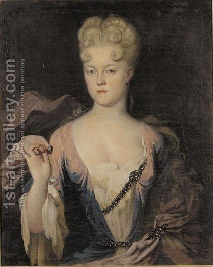 Portrait Von Prinzessin Marie Charlotte Von Ostfriesland by Guillain Peter Van Der Zijpen - Reproduction Oil Painting