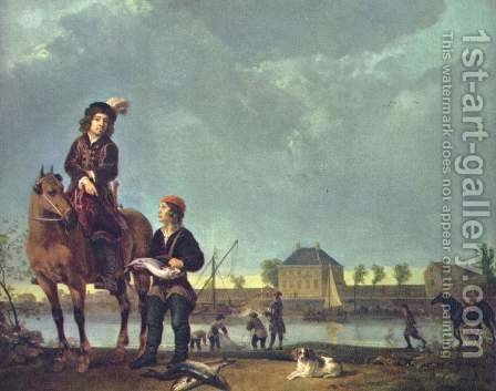 Portrait of Pieter de Roovere by Aelbert Cuyp - Reproduction Oil Painting