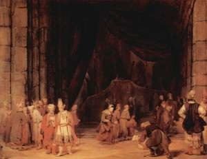 Reproduction oil paintings - Aert De Gelder - The entrance of the temple
