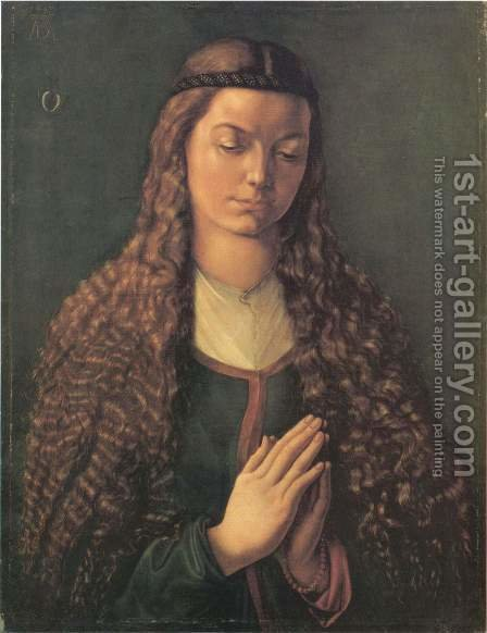 The Furlegerin with loose hair by Albrecht Durer - Reproduction Oil Painting