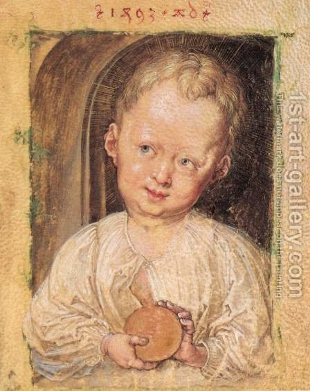 Boy with a globe by Albrecht Durer - Reproduction Oil Painting