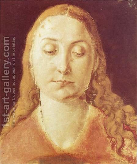 Head of Mary by Albrecht Durer - Reproduction Oil Painting