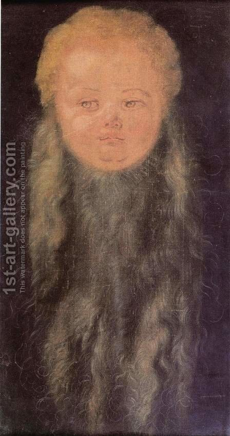 Head of a bearded child by Albrecht Durer - Reproduction Oil Painting