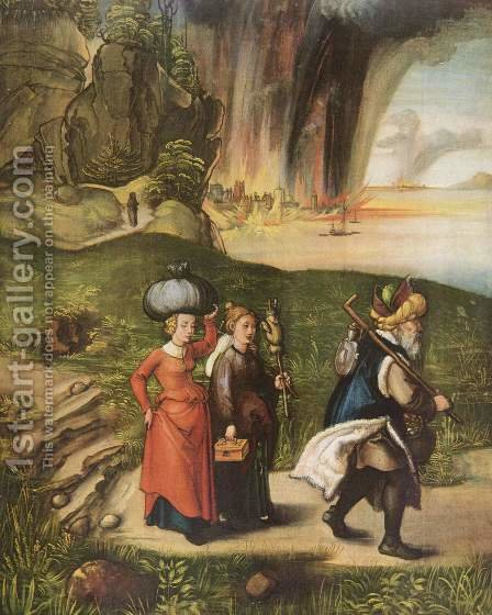 Lot's escape by Albrecht Durer - Reproduction Oil Painting