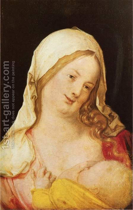 Madonna and Child by Albrecht Durer - Reproduction Oil Painting